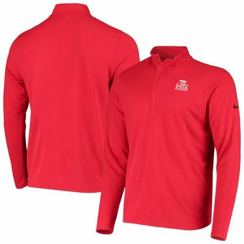 ナイキ NIKE ビクトリー パフォーマンス 黒 ブラック メンズファッション コート ジャケット メンズ 【 2020 Pga Championship Victory Performance Half-zip Pullover Jacket - Black 】 Red
