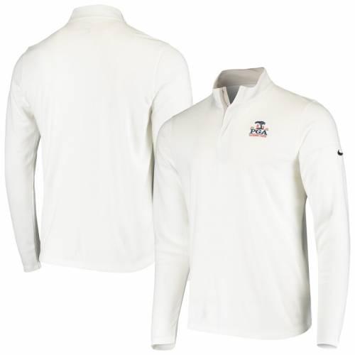 ナイキ NIKE ビクトリー パフォーマンス 黒 ブラック メンズファッション コート ジャケット メンズ 【 2020 Pga Championship Victory Performance Half-zip Pullover Jacket - Black 】 White