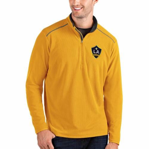 ANTIGUA メンズファッション コート ジャケット メンズ 【 La Galaxy Glacier Quarter-zip Pullover Jacket - Gold 】 Gold