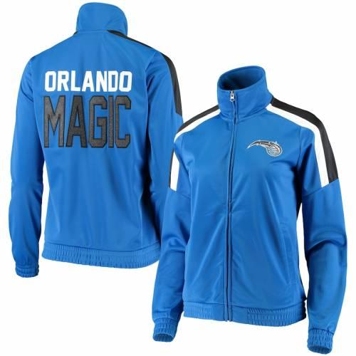 G-III 4HER BY CARL BANKS オーランド マジック レディース トラック 青 ブルー 【 Orlando Magic Womens Jump Shot Full-zip Track Jacket - Blue 】 Blue