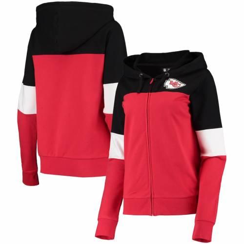 ニューエラ NEW ERA カンザス シティ チーフス レディース 赤 レッド 【 Kansas City Chiefs Womens French Terry Contrast Insert Full-zip Jacket - Red 】 Red