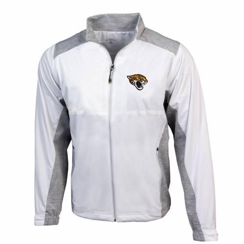 ANTIGUA ジャクソンビル ジャガース 黒 ブラック メンズファッション コート ジャケット メンズ 【 Jacksonville Jaguars Revolve Full-zip Jacket - Black 】 White