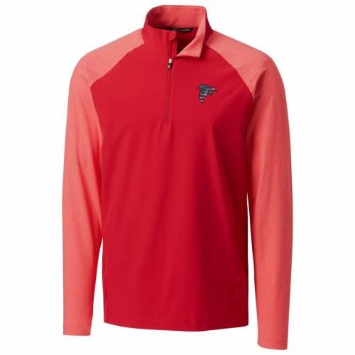 CUTTER & BUCK アトランタ ファルコンズ レスポンス ハイブリッド 赤 レッド メンズファッション コート ジャケット メンズ 【 Atlanta Falcons Cutter And Buck Americana Response Hybrid Quarter-zip Jacket -