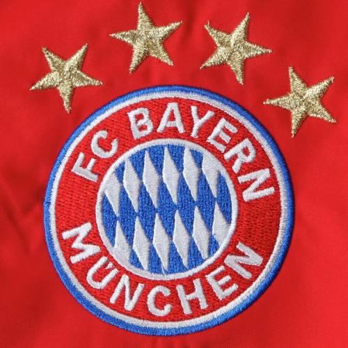 アディダス ADIDAS チーム 赤 レッド メンズファッション コート ジャケット メンズ 【 Bayern Munich Team Anthem Full-zip Jacket - Red 】 Red