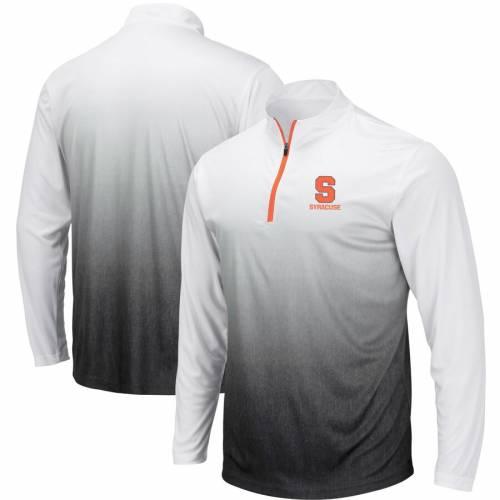 COLOSSEUM シラキュース 橙 オレンジ マジック チーム ロゴ 灰色 グレー グレイ メンズファッション コート ジャケット メンズ 【 Syracuse Orange Magic Team Logo Quarter-zip Jacket - Gray 】 Gray