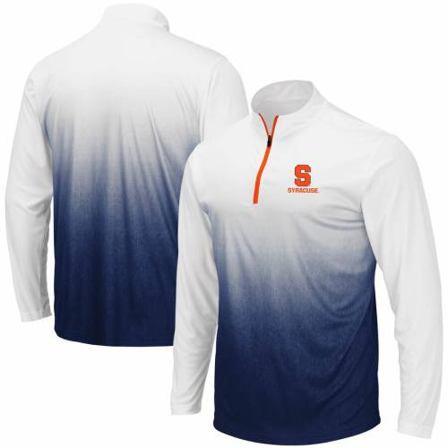 COLOSSEUM シラキュース 橙 オレンジ マジック チーム ロゴ 灰色 グレー グレイ メンズファッション コート ジャケット メンズ 【 Syracuse Orange Magic Team Logo Quarter-zip Jacket - Gray 】 Navy