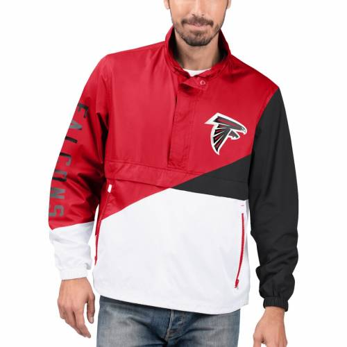 G-III SPORTS BY CARL BANKS アトランタ ファルコンズ チーム メンズファッション コート ジャケット メンズ 【 Atlanta Falcons Double Team Half-zip Pullover Jacket - Red/white 】 Red/white