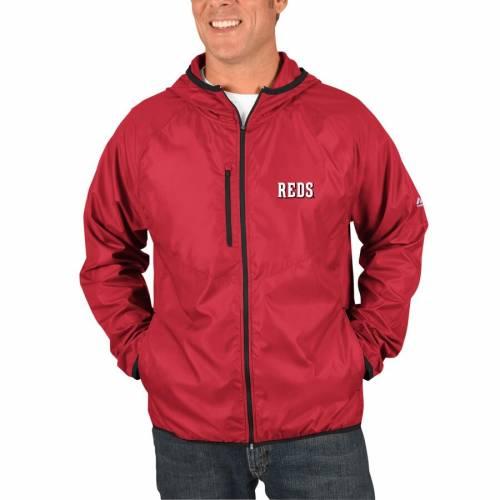 マジェスティック MAJESTIC シンシナティ レッズ チョイス 赤 レッド メンズファッション コート ジャケット メンズ 【 Cincinnati Reds Weakness Is A Choice Full-zip Jacket - Red 】 Red