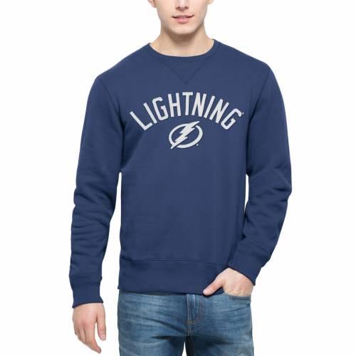 '47 青 ブルー メンズファッション トップス スウェット トレーナー メンズ 【 Tampa Bay Lightning Cross-check Sweatshirt - Blue 】 Blue