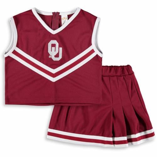 LITTLE KING ベビー 赤ちゃん用 赤ちゃん 幼児 キッズ マタニティ ジュニア 【 Oklahoma Sooners Girls Toddler Two-piece Cheer Set - Crimson 】 Crimson