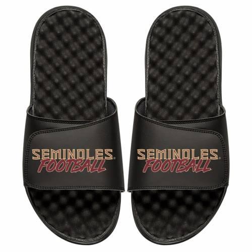 ISLIDE フロリダ スケートボード セミノールズ サンダル 黒 ブラック  【 STATE BLACK ISLIDE FLORIDA SEMINOLES FOOTBALL STACKED SLIDE SANDALS 】  メンズ サンダル スポーツサンダル:スニケス