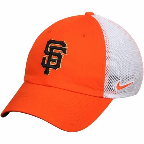 ナイキ NIKE ジャイアンツ パフォーマンス バッグ キャップ 帽子 メンズキャップ メンズ 【 San Francisco Giants Heritage 86 Fabric Mix Performance Adjustable Hat - Orange/white 】 Orange/white