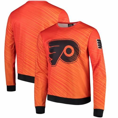 FOCO フィラデルフィア 橙 オレンジ メンズファッション トップス スウェット トレーナー メンズ 【 Philadelphia Flyers Static Rain Printed Sweatshirt - Orange 】 Orange