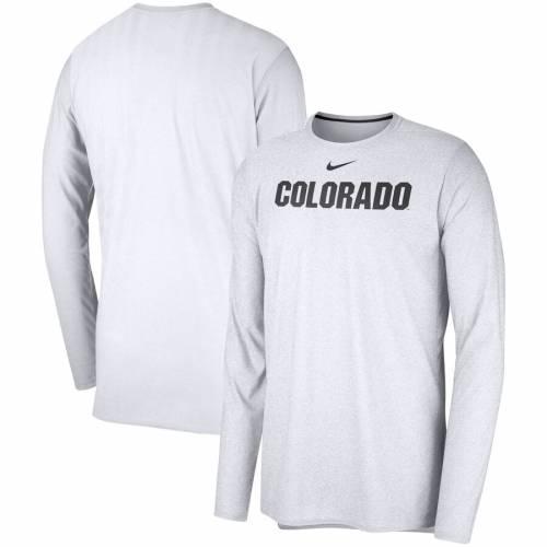 ナイキ NIKE コロラド サイドライン パフォーマンス スリーブ 白 ホワイト メンズファッション トップス Tシャツ カットソー メンズ 【 Colorado Buffaloes 2018 Sideline Player Performance Long Sleeve Top
