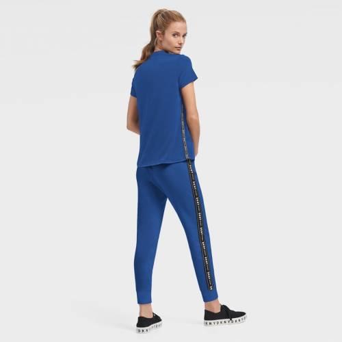 <title>スポーツブランド カジュアル ファッション ダナキャランニューヨーク スポーツ DKNY SPORT トロント レディース Tシャツ 青色 国際ブランド ブルー メープルリーフス WOMEN'S DONNA SPORTY TRIBLEND TSHIRT BLUE レディースファッション トップ</title>