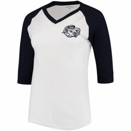 LEAGUE COLLEGIATE WEAR ノース カロライナ レディース ベースボール ブイネック Tシャツ 白 ホワイト 紺 ネイビー WOMEN'SWHITE NAVY LEAGUE COLLEGIATE WEAR NORTH CAROLINA TAR HEELS CAMP BASEBALL VNECK TSHIRTnwN0vm8