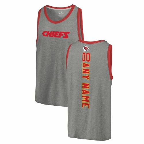 NFL PRO LINE BY FANATICS BRANDED プロ カンザス シティ チーフス タンクトップ ヘザー 灰色 グレー グレイ [CUSTOMIZED ITEM] 【 NFL HEATHER GRAY PRO LINE BY FANATICS BRANDED KANSAS CITY CHIEFS PERSONALIZED PLAYMAKER TRIBLE