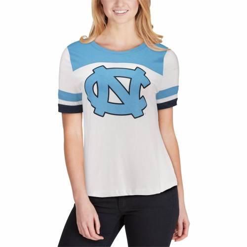 COLOSSEUM ノース カロライナ レディース Tシャツ 白 ホワイト レディースファッション トップス カットソー 【 North Carolina Tar Heels Womens Show Me The Money T-shirt - White 】 White