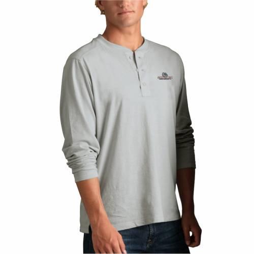 VANTAGE APPAREL ゴンザガ ヘンリー Tシャツ 銀色 シルバー メンズファッション トップス カットソー メンズ 【 Gonzaga Bulldogs Cambridge Henley 3/4-sleeve T-shirt - Silver 】 Silver