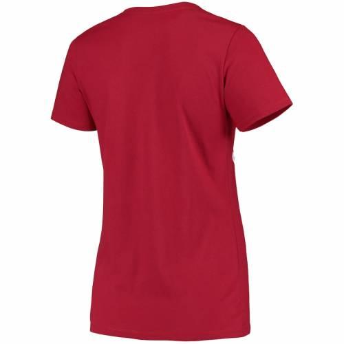 チャンピオン CHAMPION スタンフォード 赤 カーディナル レディース カレッジ ブイネック Tシャツ レディースファッション トップス カットソー 【 Stanford Cardinal Womens College Seal V-neck T-shirt