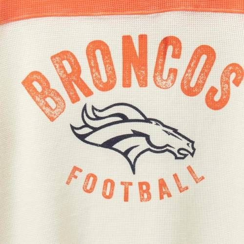 TOUCH BY ALYSSA MILANO デンバー ブロンコス レディース クラブ スリーブ Tシャツ レディースファッション トップス カットソー 【 Denver Broncos Womens Plus Size Fan Club Thermal Long Sleeve T-shirt - White/or