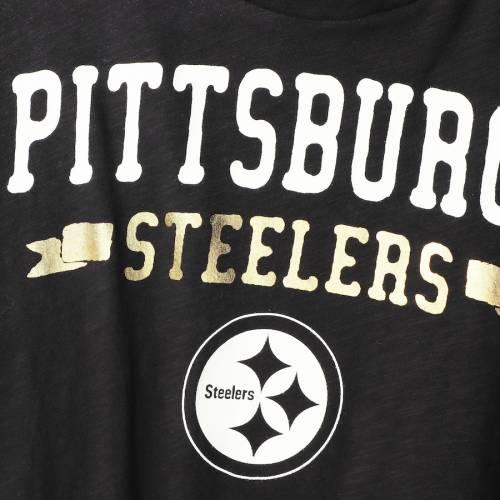 TOUCH BY ALYSSA MILANO ピッツバーグ スティーラーズ レディース スリーブ Tシャツ 黒 ブラック レディースファッション トップス カットソー 【 Pittsburgh Steelers Womens On The Fly Long Sleeve T-shirt -