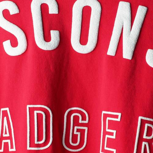 SPIRIT JERSEY ウィスコンシン レディース Tシャツ 赤 レッド レディースファッション トップス カットソー 【 Wisconsin Badgers Womens Chunky Side Lace-up T-shirt - Red 】 Red