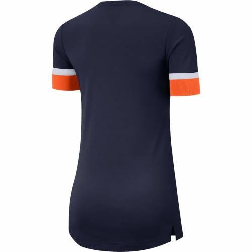 ナイキ NIKE デンバー ブロンコス レディース パフォーマンス ブイネック Tシャツ レディースファッション トップス カットソー 【 Denver Broncos Womens Performance Fan Tri-blend V-neck T-shirt - Navy/or