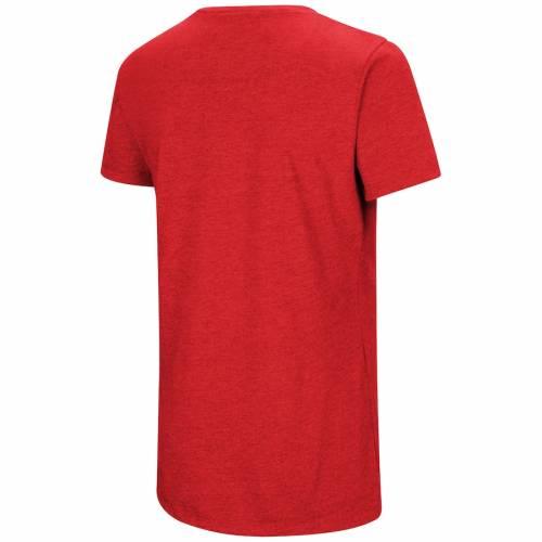 アンダーアーマー UNDER ARMOUR ワシントン ナショナルズ レディース チーム パフォーマンス ブイネック Tシャツ 赤 レッド レディースファッション トップス カットソー 【 Washington Nationals