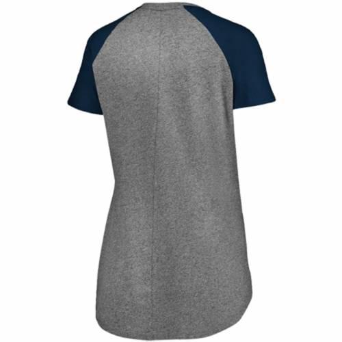 マジェスティック MAJESTIC ワシントン ナショナルズ レディース ラグラン ブイネック Tシャツ レディースファッション トップス カットソー 【 Washington Nationals Womens Static Pocket Raglan V-neck