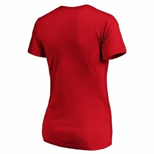 NFL PRO LINE BY FANATICS BRANDED カンザス シティ チーフス レディース ロゴ ブイネック Tシャツ 赤 レッド レディースファッション トップス カットソー 【 Kansas City Chiefs Womens 60th Season Plus Size