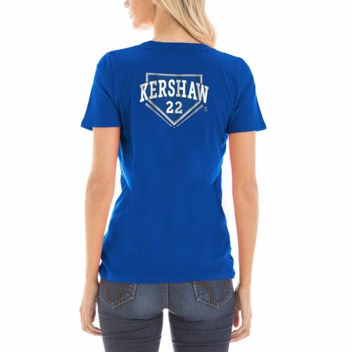 5TH & OCEAN BY NEW ERA ドジャース レディース Tシャツ レディースファッション トップス カットソー 【 Clayton Kershaw Los Angeles Dodgers 5th And Ocean By New Era Womens 2018 National League Champions Player T-shir