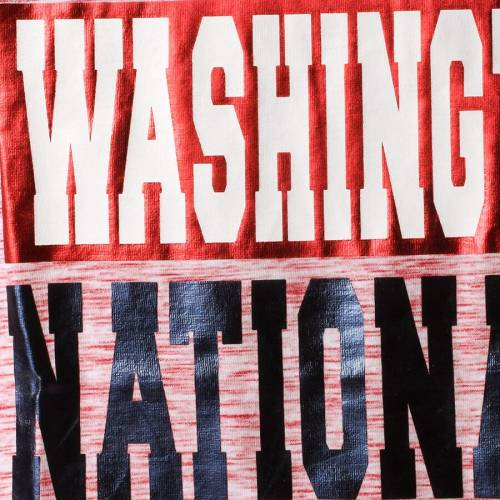 5TH & OCEAN BY NEW ERA ワシントン ナショナルズ レディース Tシャツ 赤 レッド レディースファッション トップス カットソー 【 Washington Nationals 5th And Ocean By New Era Womens Space Dye Crew T-shirt - R