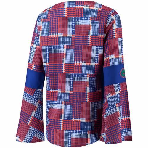 EMERSON STREET フロリダ レディース スリーブ Tシャツ レディースファッション トップス カットソー 【 Florida Gators Womens Erin Long Bell Sleeve T-shirt - Multi 】 Multi