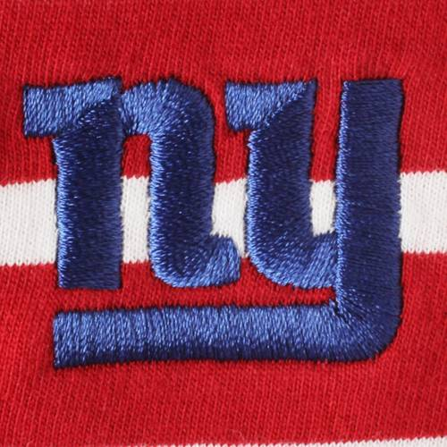 CUTTER & BUCK ジャイアンツ レディース ストライプ スリーブ Tシャツ 赤 レッド レディースファッション トップス カットソー 【 New York Giants Cutter And Buck Womens Revel Stripe Three-quarter Sleeve T-