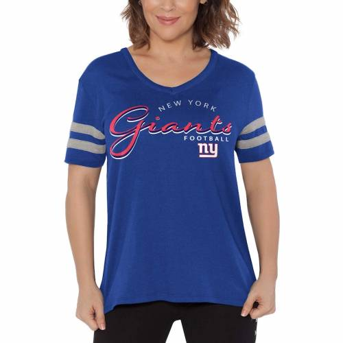 TOUCH BY ALYSSA MILANO ジャイアンツ レディース ブイネック Tシャツ レディースファッション トップス カットソー 【 New York Giants Womens Triple Play V-neck T-shirt - Royal 】 Royal