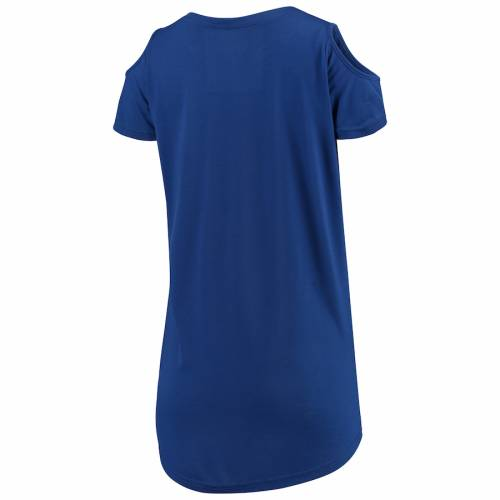 G III 4HER BY CARL BANKS ジースリー ドジャース レディース Tシャツ WOMEN'SGIII 4HER BY CARL BANKS LOS ANGELES DODGERS CLEAR THE BASES COLD SHOULDER TSHIRT ROYALレディースファッション トップス Tシャツ カrthdCsQ