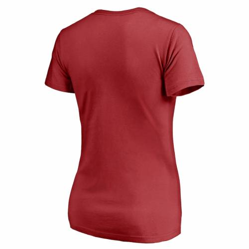 NFL PRO LINE BY FANATICS BRANDED ジャイアンツ プロ レディース ブイネック Tシャツ 赤 レッド レディースファッション トップス カットソー 【 New York Giants Nfl Pro Line Womens Firefighter V-neck T-shirt - R
