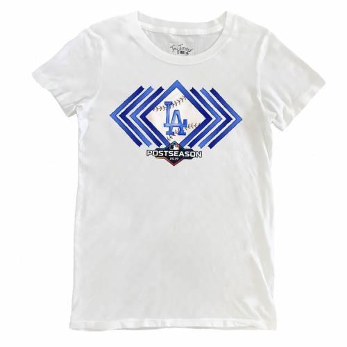 TINY TURNIP ドジャース レディース Tシャツ 白 ホワイト レディースファッション トップス カットソー 【 Los Angeles Dodgers Womens 2019 Postseason T-shirt - White 】 White