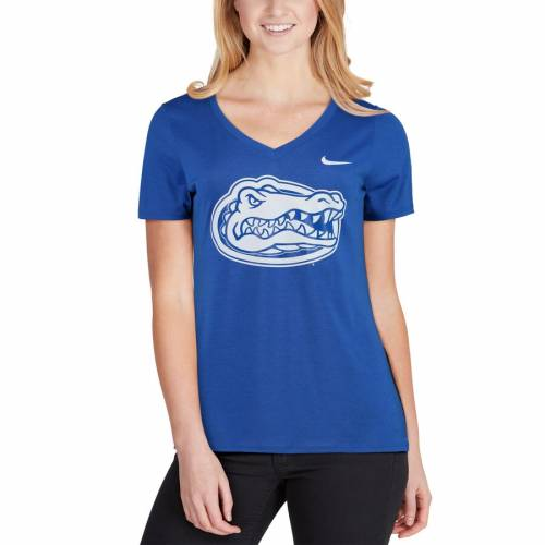 ナイキ NIKE フロリダ レディース タッチ パフォーマンス ブイネック Tシャツ レディースファッション トップス カットソー 【 Florida Gators Womens Touch Performance V-neck T-shirt - Royal 】 Royal