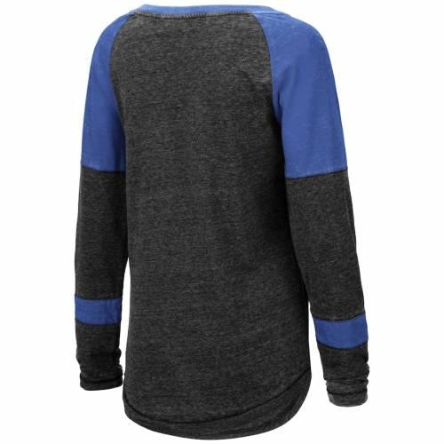 COLOSSEUM フロリダ レディース ヘンリー ラグラン スリーブ Tシャツ 黒 ブラック レディースファッション トップス カットソー 【 Florida Gators Womens Miranda Henley Raglan Long Sleeve T-shirt - Heathered
