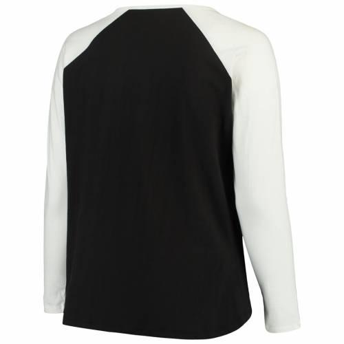 マジェスティック MAJESTIC ピッツバーグ レディース ラグラン スリーブ Tシャツ レディースファッション トップス カットソー 【 Pittsburgh Penguins Womens Plus Size Raglan Notch Neck Long Sleeve T-shirt