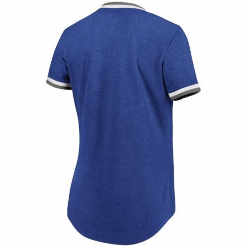 マジェスティック MAJESTIC ドジャース レディース ブイネック Tシャツ レディースファッション トップス カットソー 【 Los Angeles Dodgers Womens Driven By Results V-neck T-shirt - Royal 】 Royal