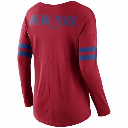 ナイキ NIKE ジャイアンツ レディース スリーブ Tシャツ 赤 レッド レディースファッション トップス カットソー 【 New York Giants Womens Tailgate Long Sleeve T-shirt - Red 】 Red