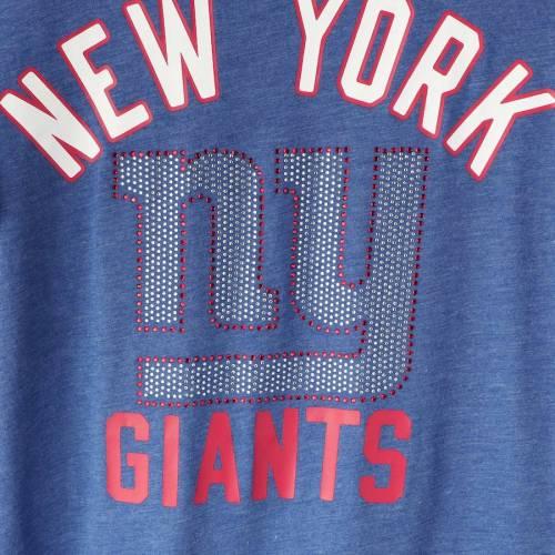 G-III 4HER BY CARL BANKS ジャイアンツ レディース Tシャツ レディースファッション トップス カットソー 【 New York Giants Womens Extra Point Bling Tri-blend T-shirt - Royal 】 Royal