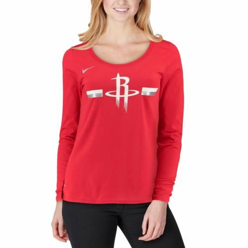 ナイキ NIKE ヒューストン ロケッツ レディース ロゴ パフォーマンス スリーブ Tシャツ 赤 レッド レディースファッション トップス カットソー 【 Houston Rockets Womens Essential Logo Performance L