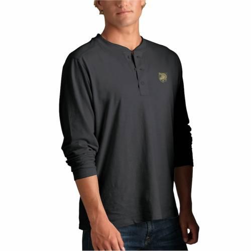 VANTAGE APPAREL 黒 ブラック ヘンリー Tシャツ メンズファッション トップス カットソー メンズ 【 Army Black Knights Cambridge Henley 3/4-sleeve T-shirt - Black 】 Black