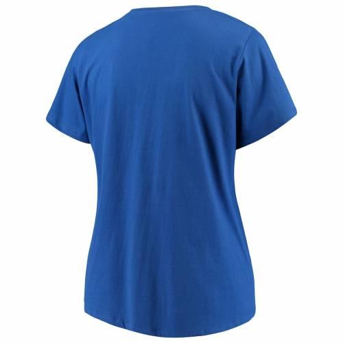 マジェスティック MAJESTIC インパクト レディース ブイネック Tシャツ レディースファッション トップス カットソー 【 Montreal Impact Womens Plus Size Primary V-neck T-shirt - Royal 】 Royal