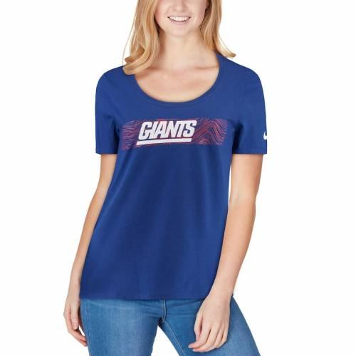ナイキ NIKE ジャイアンツ レディース サイドライン チーム Tシャツ レディースファッション トップス カットソー 【 New York Giants Womens Sideline Team T-shirt - Royal 】 Royal