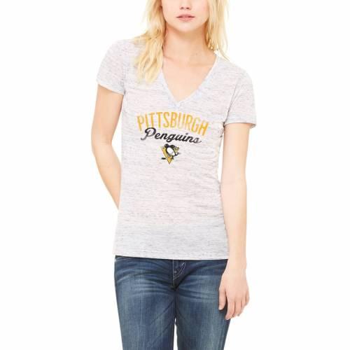 LET LOOSE BY RNL ピッツバーグ レディース Tシャツ 白 ホワイト レディースファッション トップス カットソー 【 Pittsburgh Penguins Womens Endless T-shirt - White Marble 】 White Marble